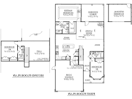 Two Storey Residential Floor Plan Good Simple 2 Story Floor Plans Garage Samples Luxury Two Storey