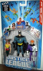 justice league unlimited batman hawkgirl elongated man 3 pack justice league unlimited