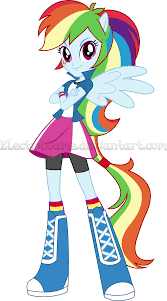 eg mlp eg the equestria girls rainbow vector by electricgame on