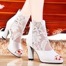wedding shoes high cheap lace peep toe wedding shoes high heel bridal ankle boots