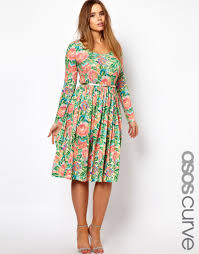 asos curve midi dress in pixulated floral datiyah com modest