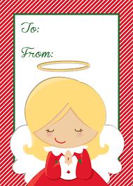 free angel gift tag printables freebies free
