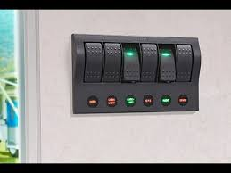 lighted rocker switch 12v narva 63193 6 way led switch panel with fuse protection and 6 spst