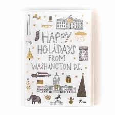 boxed cards happy holidays from dc boxed cards set of 6