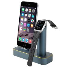 coteetci luxury aluminium stand holder charging dock charger