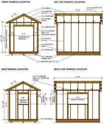 Wall Blueprints 8 12 Shed Blueprints For Building A Wooden Storage Shed