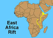 africa map great rift valley tanzania map and satellite image