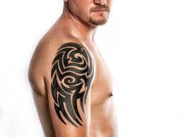18 nice tribal shoulder tattoos