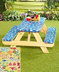 round picnic table covers for winter amazon com 3 pc picnic table covers summertime cookout garden