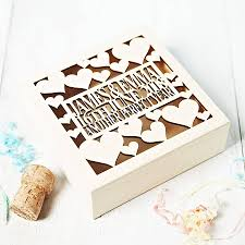 personalised keepsake box personalised anniversary keepsake box by