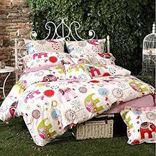 Kid Bedding Sets For Girls by Amazon Com Lelva Cartoon Bedding Elephant Pattern Bedding Kids