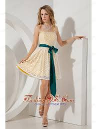 yellow junior prom homecoming dress a line princess strapless