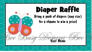 printable butterfly diaper raffle tickets bee busy designs