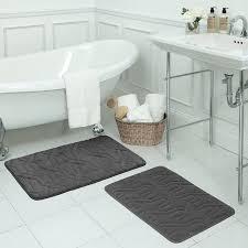 bed u0026 bath dark memory foam bathroom rug sets for scandinavian
