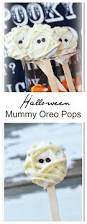 halloween snacks mummy oreo pops