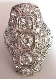 art deco platinum u0026 diamond ring for sale antiques com classifieds