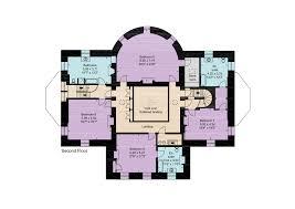 fourth floor plan of barlaston hall in staffordshire england