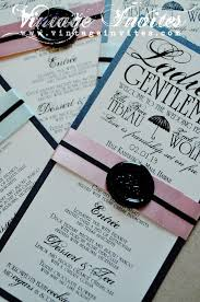 deco wedding program vintage wedding vintage invites wedding invitations for