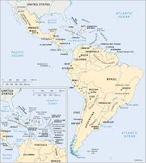 Latin And South America Map by North America Physical Map Freeworldmapsnet South America