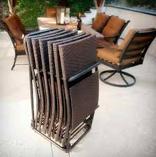 Folding Patio Furniture Set by Outdoor Wicker Folding Patio Chairs All Weather Resin Furniture