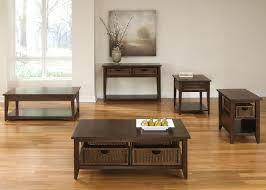 coffee table w 2 basket drawers by liberty furniture wolf and