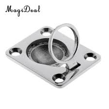 marine cabinet hardware pulls magideal 316 stainless steel pull lift ring handle flush mount