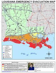 louisiana elevation map hurricane evacuation map mapwatch