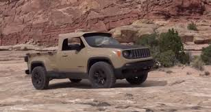 jeep renegade concept what it u0027s like to drive a jeep renegade pickup with a diesel