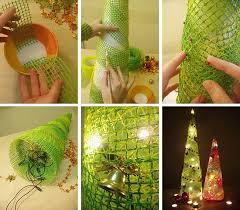 How To Make Christmas Decorations At Home Wonderful Diy Cute Mesh Christmas Tree