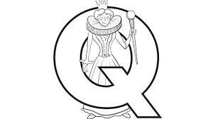 Alphabet Series Q Queen Grandparents Com Coloring Pages Q