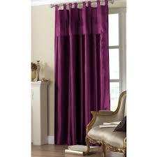 Magenta Curtain Panels Sequin Embroidered Taffeta Tab Top Faux Silk Curtain Panel 90