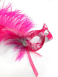 pink masquerade masks hot pink silver feather lace masquerade eye mask