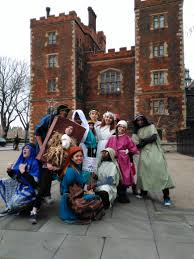 sixth formers take part in a sponsored nativity walk around london