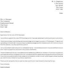 php developer cover letter php developer cover letter sample
