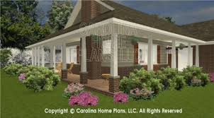 Cottage House Plans With Wrap Around Porch 3d Images For Chp Sg 1152 Aa Small Brick Ranch Style 3d House