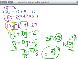 showme combine like terms with fractions
