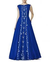 royal blue color gown u2013 panache haute couture