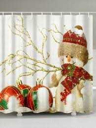 Snowman Shower Curtain Target by Christmas Snowman Print Waterproof Bathroom Shower Curtain