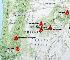 a map of oregon wildfires six forest fires in oregon still raging salem news