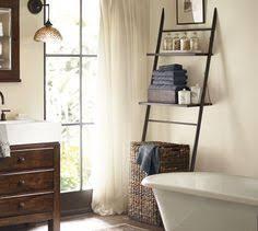 ana white leaning bathroom ladder over toilet shelf diy