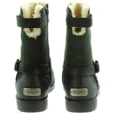 ugg womens grandle boots ugg grandle calf boots in black in black