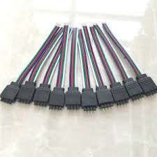 bulk led strip lights bulk 4 pin female male rgb connectors wire cable for 5050 smd led