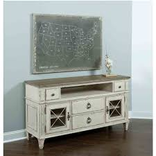 American Woodcrafters Southbury Wood Entertainment Console In Parchment Humble Abode