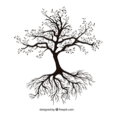 tree with roots vector free