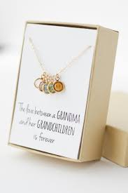 grandmother necklaces birthstone charm necklace gift gifts for