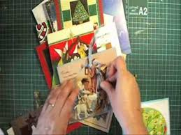 recycling your old christmas cards using dies youtube