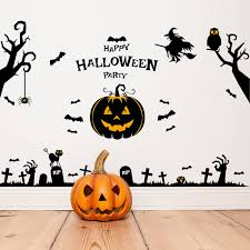 Home Decoration Online Shop Online Shop Halloween Pumpkin Wall Sticker Home Decoration