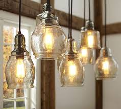 pottery barn light bulbs paxton glass 8 light pendant pottery barn pueblo living dining