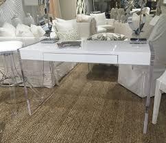 White Lacquer Desk by Custom White Lacquer And Acrylic Desk Villa Vici Contemporary