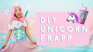 How To Be A Unicorn For Halloween by Diy Starbucks Unicorn Frappuccino Costume Youtube